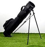 COM-SHOT 【 スタンド 付き 】 セルフ スタンド クラブ ケース ゴルフ キャリー バッグ 【 ブラック 】 MI-KRACA-BK