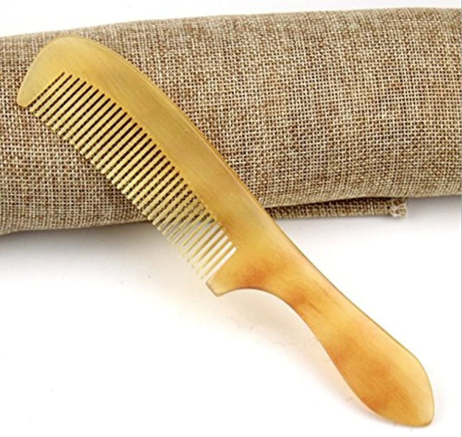 縮れた時間大型トラック櫛型 羊角かっさプレート マサージ用 血行改善 高級 天然 静電気 防止 美髪