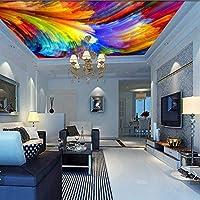 Weaeo 3Dカラーパレットの眺め抽象的な天井の壁画壁画プリント写真の壁画デカールの壁のインテリア居間の屋内カスタム-120X100Cm