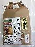 食用玄米 28年産 石川県産 無農薬 こしひかり EM自然農法 大地の恵 玄米 (2kg)
