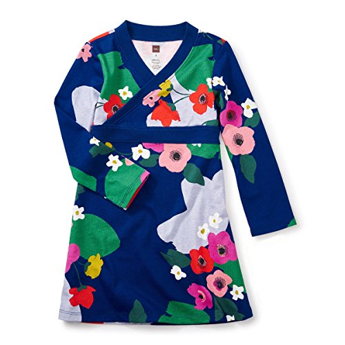 (ティコレクション)tea collection Scotland Garden Wrap Neck Dress 7F12317-469 469 ネイビー 2T(2~3歳):日本サイズ約90~95cm