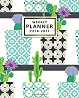 Weekly Planner 2020-2021: 2 Year Weekly & Daily View Organizer with To-Do's, Funny Holidays & Inspirational Quotes, Vision Boards & Notes   Two Year Agenda & Diary   Trendy Cactus & Succulents In Pots