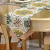プリントテーブルランナーシンプルコーヒーテーブルテレビキャビネットカバー布タッセルコットンリネン結婚式の装飾布多機能ベッドスカーフ (色 : B, サイズ さいず : 30x220cm)