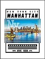 【FOX REPUBLIC】【ニューヨーク マンハッタン 橋 景色】 白光沢紙(フレーム無し)A4サイズ