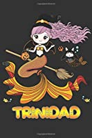 Trinidad: Trinidad Halloween Beautiful Mermaid Witch Want To Create An Emotional Moment For Trinidad?, Show Trinidad You Care With This Personal Custom Gift With Trinidad's Very Own Planner Calendar Notebook Journal