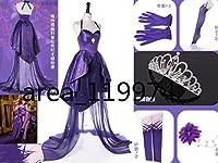 Fate/Grand Order FGO Fes2017 2周年ドレス スカサハ 師匠 コスプレ衣装+髪飾り+靴下+手袋 全セット