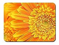 花弁の雄しべを雌しべオレンジ パターンカスタムの マウスパッド 植物・花 (26cmx21cm)