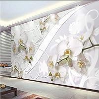 Wxmca カスタム壁画壁紙現代のファッション蛾蘭花壁絵画リビングルームの寝室の背景壁の装飾-200X140Cm