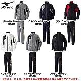 MIZUNO(ミズノ) ウォームアップ シャツ パンツ 上下セット 【メンズ】 (32JC7010/32JD7010) (L, ブラック×Cレッド(96/09))