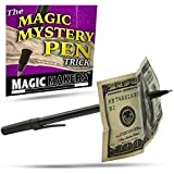 Magic Makers Magic Mystery Pen Trick - Pen Through Dollar Magic Trick