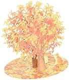 サンリオ 秋カード レーザーカット 桜紅葉の木 P4568