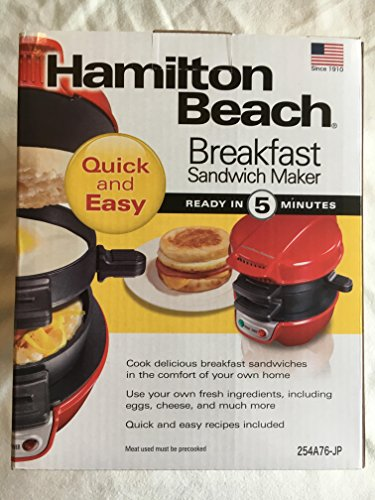 [해외]Breakfast Sandwich maker 에그 머핀 메이커 HML01R 레드/Breakfast Sandwich maker Egg muffin maker HML 01 R red