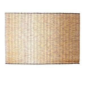 【いぶし焼き すだれ 和 よしず】 天然 黒丸竹 48本編み いぶし焼き こだわり すだれ 176×112cm(B168)