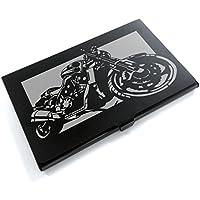 ブラックアルマイト「ヤマハ(YAMAHA) V MAX」切り絵デザインのカードケース[BC-009]