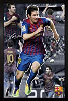 Barcelona - Messi Collage 11/12 Framed Poster - 94.5x64cm