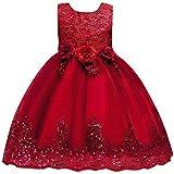 hfeweng 赤ちゃんの女の子のコットンノースリーブのプリンセスブライドメイドのページガウンの誕生日パーティーのウェディングドレス24ヶ月 - 8歳の ?色:パープル 大小:120