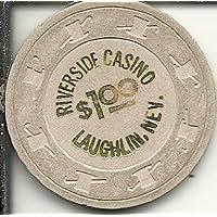 $ 1 Riverside Obsolete Laughlin Nevadaカジノチップホワイト