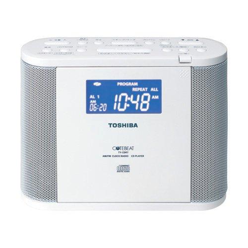 RoomClip商品情報 - TOSHIBA CDラジオ(クロック付) CUTEBEAT ホワイト TY-CDR7(W)