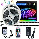 DreamColor LED Strip Light SELIAN 5050 32.8ft/(2x5m) Waterproof LED Lighting strips Sync to Music RGB Flexible Rope light with 12V Power Supply 300LED Strip Lighting for Home Indoor & Outdoor Decoration