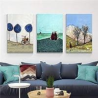 壁飾り塗装 無垢材のフレームのキャンバスには、リビングルームの壁の装飾浴室の壁の装飾のキャンバスの絵を描く抽象印刷します アートウォール装飾画 (色 : 02, サイズ : 60X90CM)