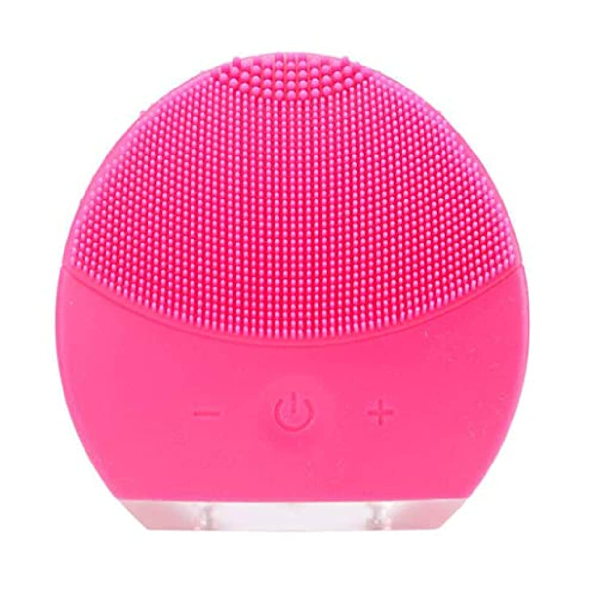 ネックレス密分布超音波振動美容機器洗浄器、皮膚の毛穴を最小限に抑えるマイクロダーマブレーション毛穴、USB 充電と防水,Rosered