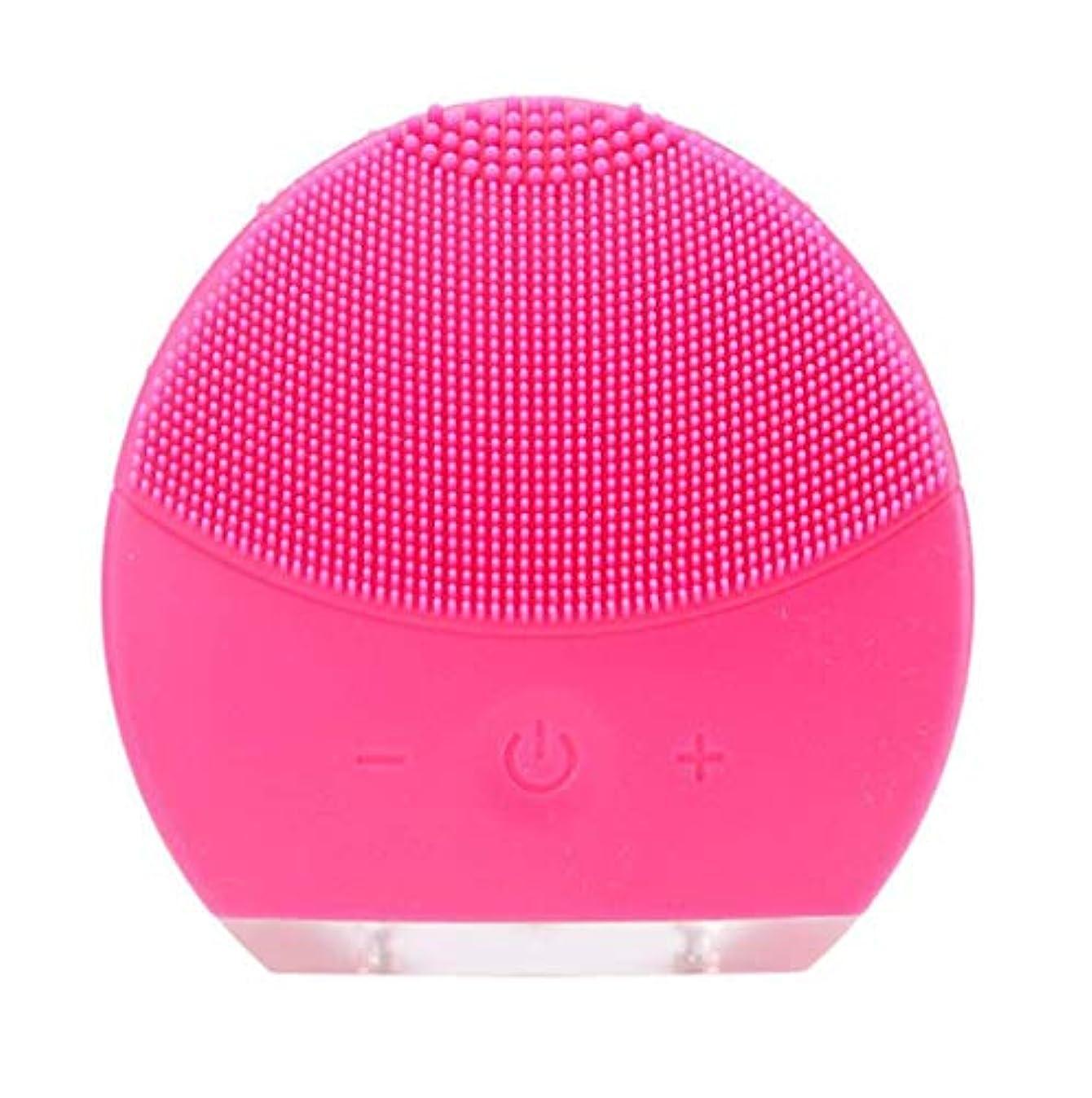 密ほとんどないストラトフォードオンエイボン超音波振動美容機器洗浄器、皮膚の毛穴を最小限に抑えるマイクロダーマブレーション毛穴、USB 充電と防水,Rosered