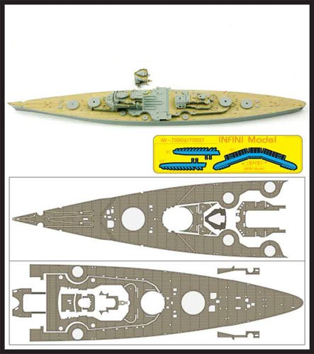 インフィニモデル 1/700 IWシリーズ ドイツ海軍 戦艦 ティルピッツ 1944用 木製甲板 PIT用 エッチングパーツ アンカーチェーン付き プラモデル用パーツ IW7006の詳細を見る