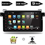 "9"" Inch Android 7.1 GPS Navigation Capacitive Multi-Touch Screen Radio Car Stereo Quad Core 2GB RAM 16GB RAM Fit BMW E46 BMW M3 BMW 3 Series 1998 1999 2000 2001 2002 2003 2004 2005+Canbus+Rear Camera"