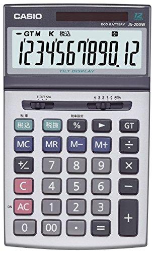 カシオ 本格実務電卓 ジャストタイプ 12桁 JS-200W-N
