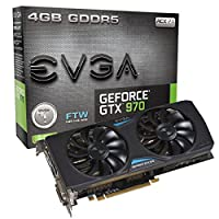 EVGA GeForce GTX 970 FTW ACX 2.0 4GB GDDR5 256bit, DVI-I, DVI-D, HDMI, DP SLI Ready Graphics Card 04G-P4-2978-KR 並行輸入