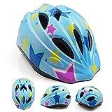 FEIYU 子供用 軽量 ヘルメット+キッズ プロテクター サイクリング 自転車 ヘルメット スケボースケート靴用 プロテクター保護 男女適用 防具 安全対策 (スカイブルー, S 47-53CM)
