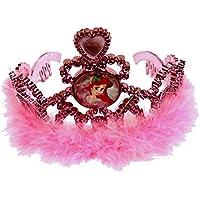 ディズニープリンセスアリエル女の子ティアラおもちゃjewelry-ピンク