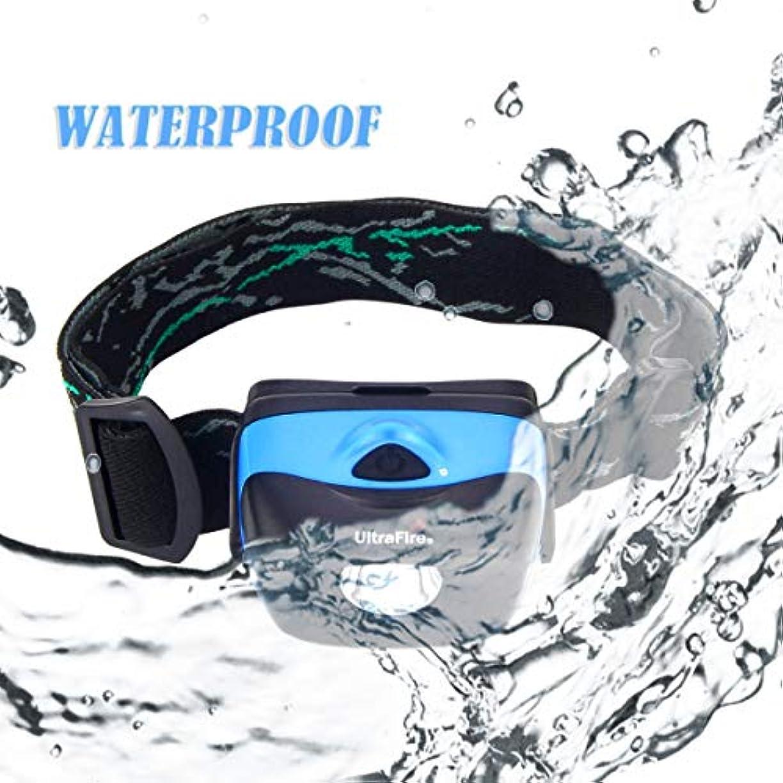 補正種類強制UltraFire W01-1W 120ルーメン3モード 軽量防水ヘッドランプ(ブルー)