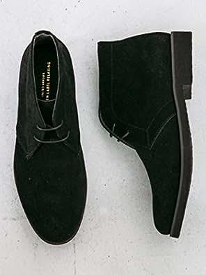 [ユナイテッドアローズ グリーンレーベル リラクシング] SC GLR スエード チャッカ ブーツ 32316991703 0970 メンズ ブラック (09) 9