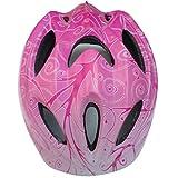12ベントヘルメット 子ども 用 キッズ 幼児 Aliciga 可愛い自転車ヘルメット 軽量 サイクリングヘルメット 調整可能 (ピンク)