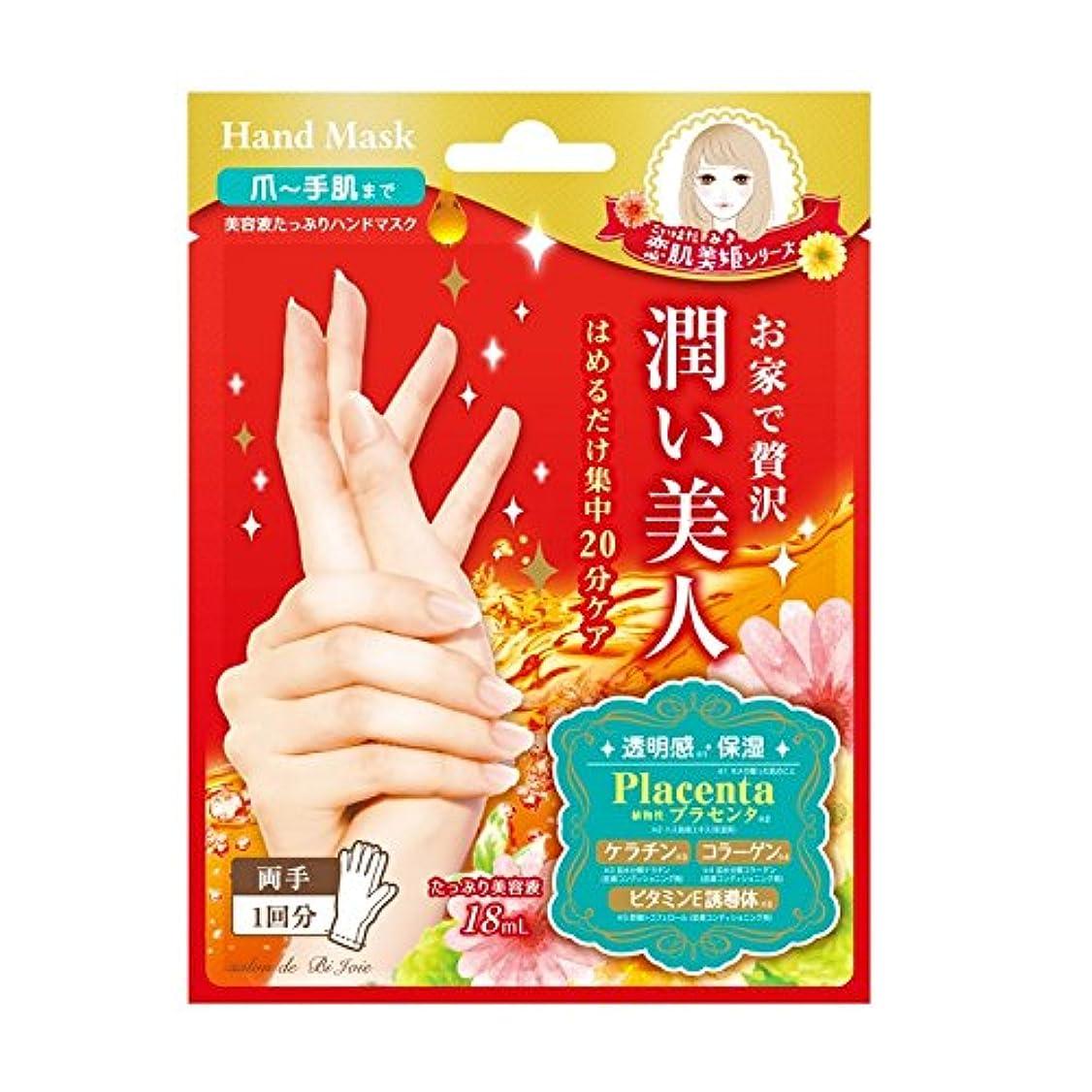 ワイドメンテナンス芸術BJ 潤いハンドマスク (美容液18mL/1回分)