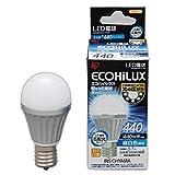 アイリスオーヤマ LED電球 口金直径17mm 40W形相当 昼白色 広配光タイプ 密閉形器具対応 エコハイルクス LDA6N-G-E17-V2