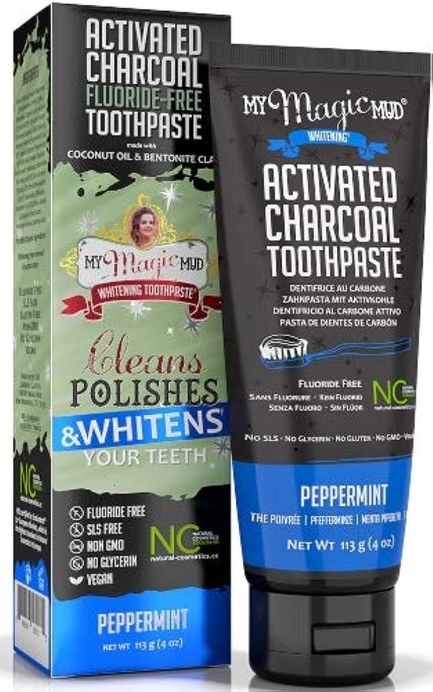 漏斗位置づける気質マイマジックマッドホワイトニング歯磨き粉 (ペパーミント)