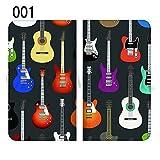 ドコモ シャープ AQUOS R SH-03J 全機種対応スマホケース ベルト無し 手帳型ケース 手帳型カバー スライド式スマホケース 完全受注生産 楽器 ミュージック 音楽 001