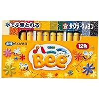クレヨン水性12色ハニーBee 135-586