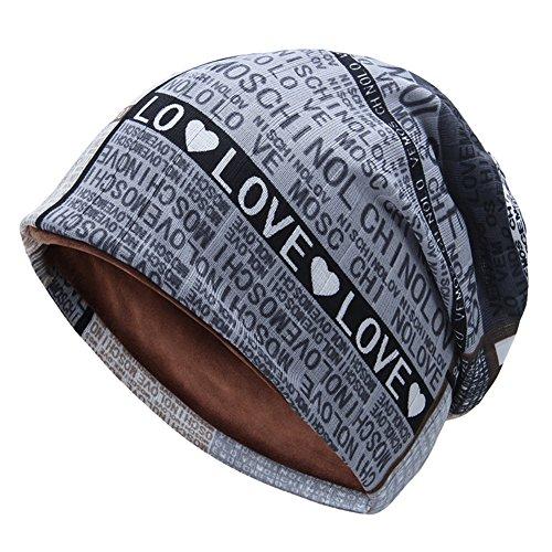 QIN ニット帽 ビーニー伸縮性のより厚い 裏起毛 スノー ...