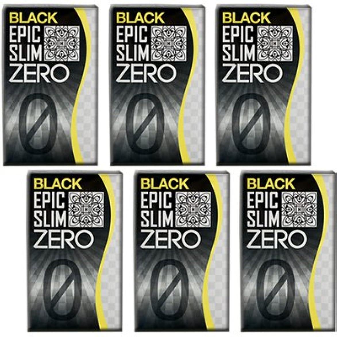 忠実に責野生ブラック エピックスリム ゼロ ブラック 6個セット!  Epic Slim ZERO BLACK ×6個