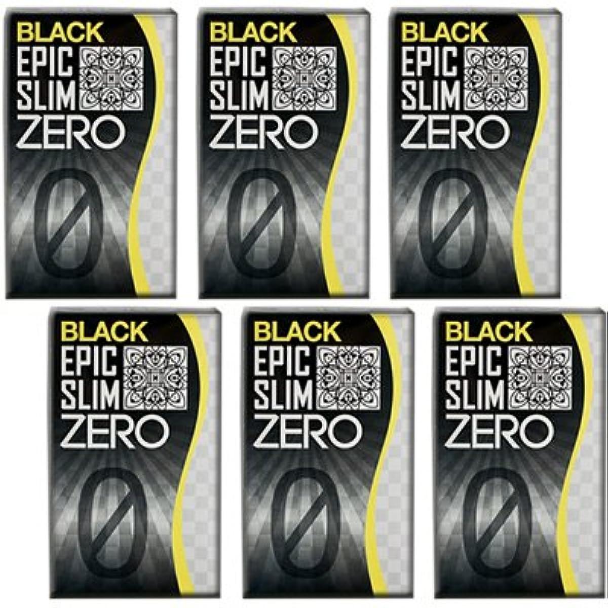 ソート音声学あそこブラック エピックスリム ゼロ ブラック 6個セット!  Epic Slim ZERO BLACK ×6個
