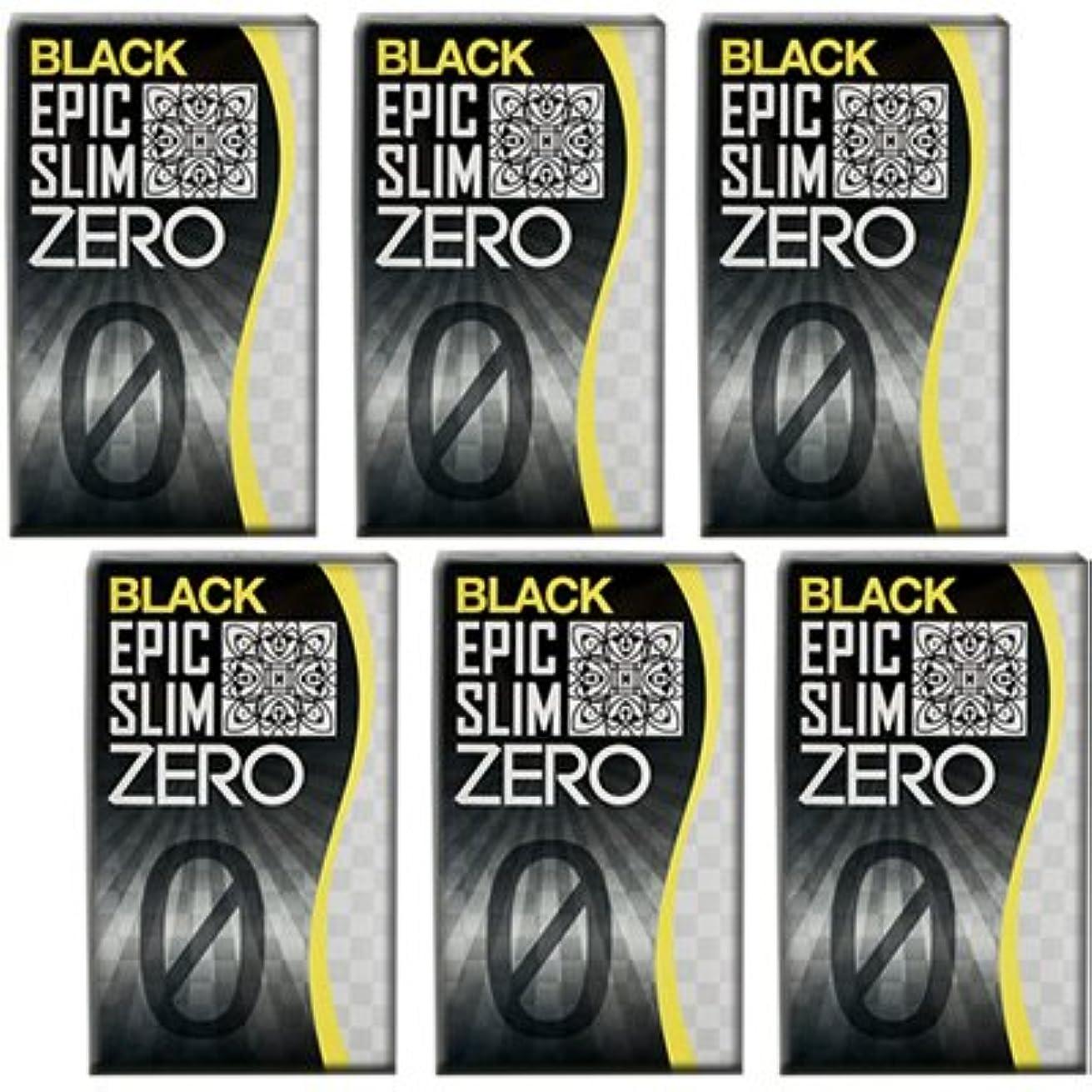 着服従事した社会学ブラック エピックスリム ゼロ ブラック 6個セット!  Epic Slim ZERO BLACK ×6個