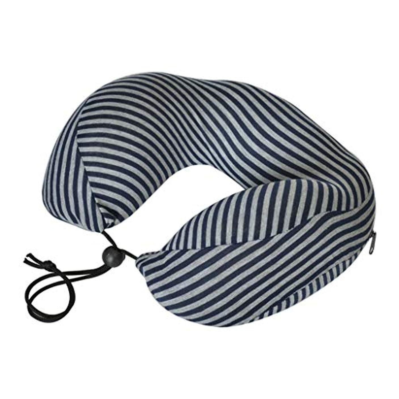 発音するフェデレーション平日JSFQ U字型枕縞模様の記憶泡の枕大人のオフィスの睡眠枕旅行U字型の枕 U字型の枕