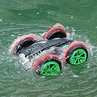 子供の屋外ウォータービーチ水陸両用の水陸両用車四輪駆動両面オフロードリモートコントロールスタントカー