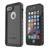 iPhone 7 防水ケース OTBBA IP68認定 4.7インチ アイフォン7 防水ケース 防水 防塵 防雪 耐衝撃 耐震 落下防止カバ ー 指紋認識 薄型軽量スマホケース ブラック