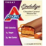 【海外直送品】【2箱セット】Atkins, Endulge, Chocolate Caramel Mousse Bar, 1.2 oz (34 g) x5Bar x2箱