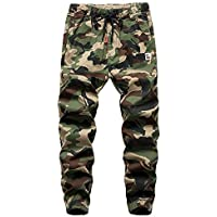 Big Boys' Jogger Pants Sport Trousers Boys Pull On Drawstring Camo Pants Kids