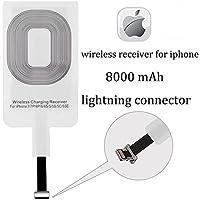 ワイヤレス充電器受信機、wisfruit 5 W Qiワイヤレス充電レシーバーモジュールパッチfor iPhone 7 /7p/6p/6 /6s/5 /5s/5 C/5se、Android電話マイクロUSBとタイプC Type B